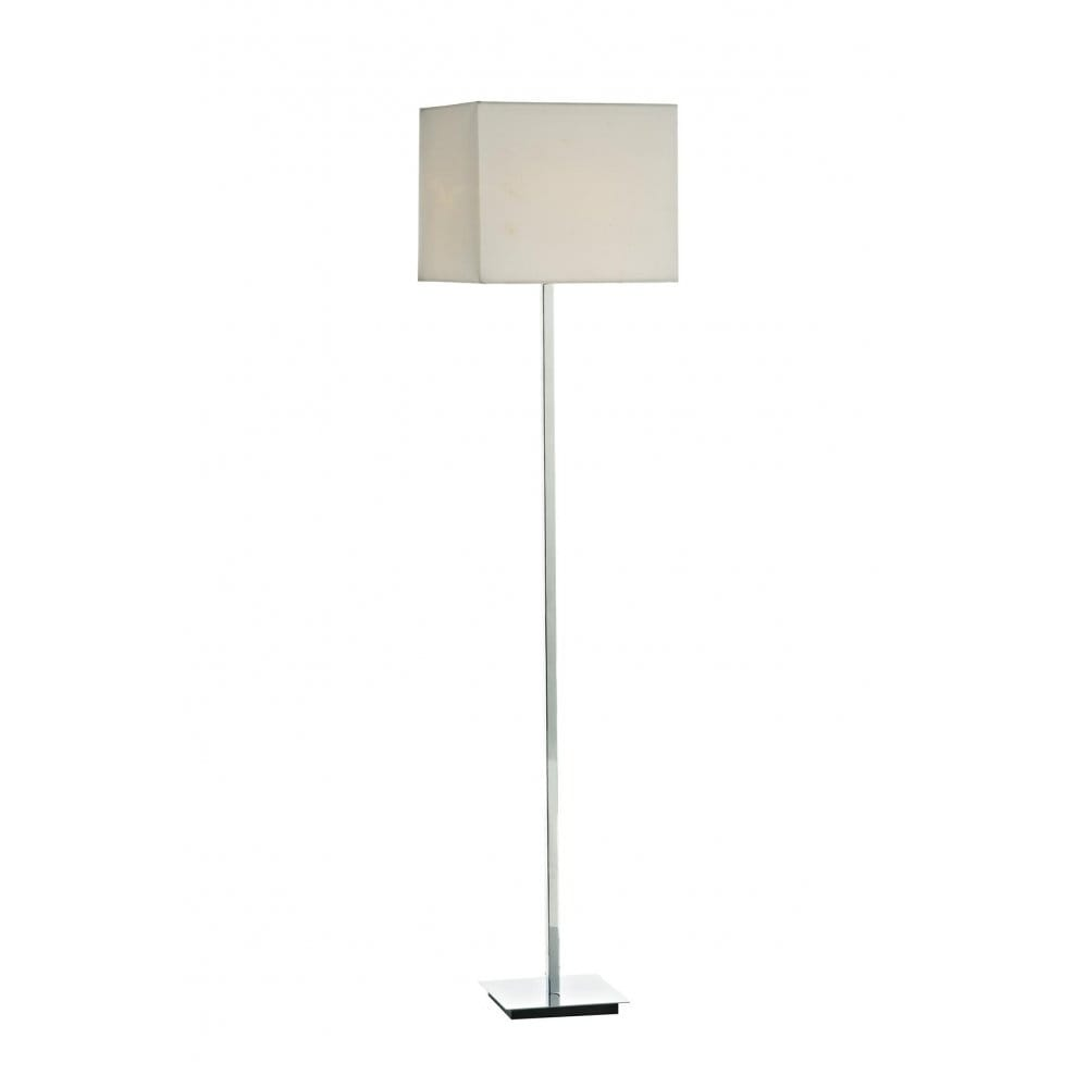 Diplomat Modern Floor Standing Lamp Polished Chrome With