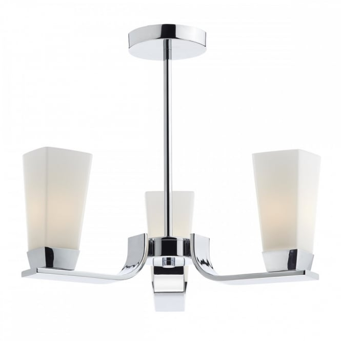 The Lighting Book DIRECTOR contemporary polished chrome bathroom ceiling light