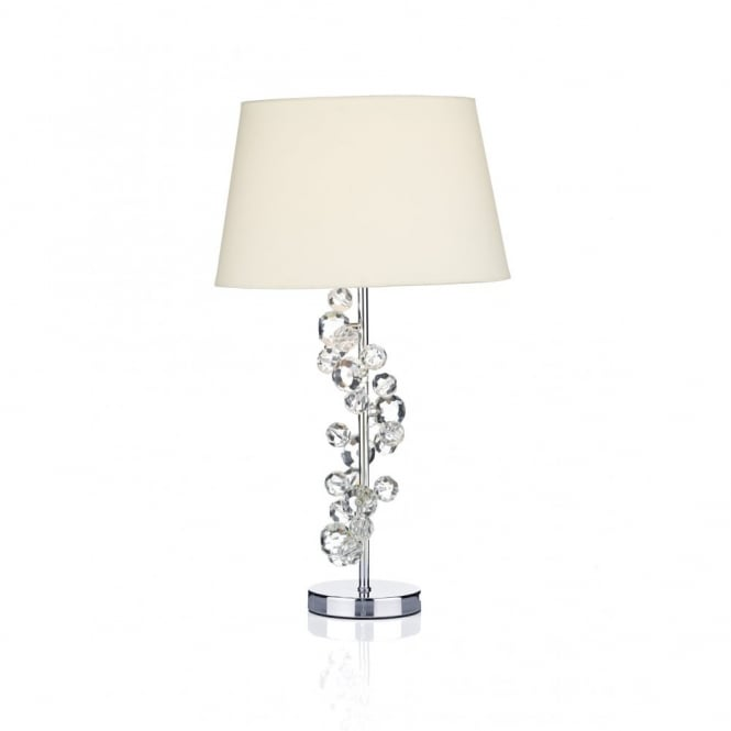 contemporary chrome table lamp with crystal glass decoration shade. Black Bedroom Furniture Sets. Home Design Ideas