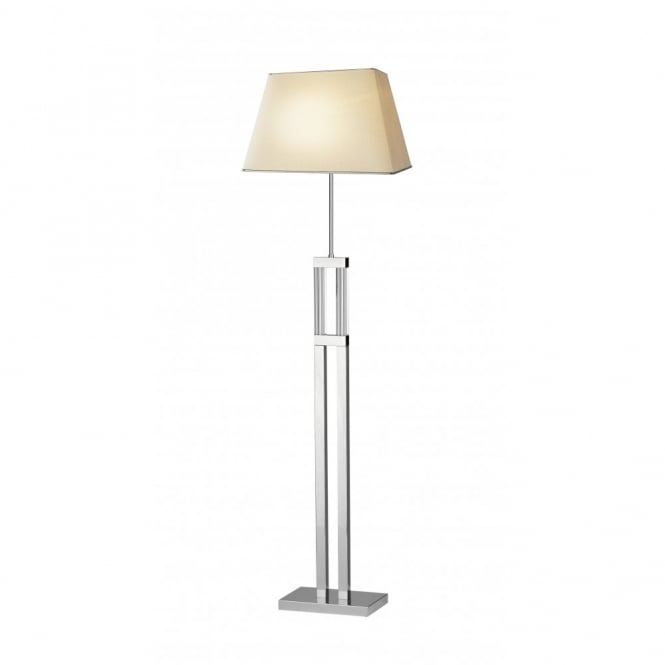 Contemporary floor lamps modern designer floor lamps uk the domain modern chrome and glass floor standard lamp aloadofball Image collections