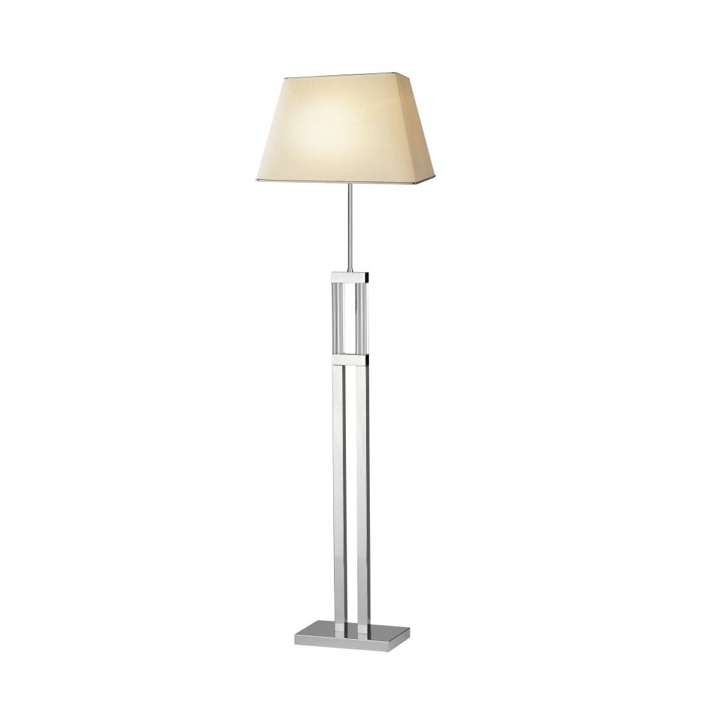 Domain modern chrome and glass floor lamp for Floor lamp with table