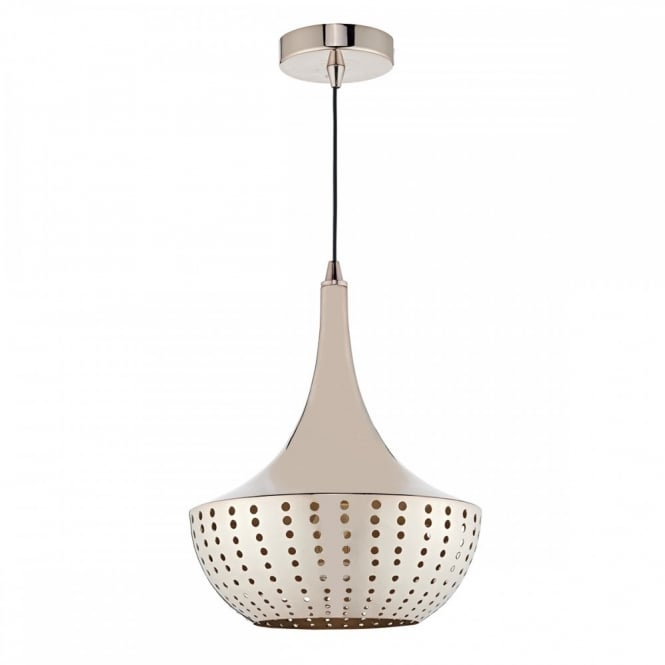 The Lighting Book DOT Bronze Pendant Light Fitting in a modern mid century style with hole punch decoration.