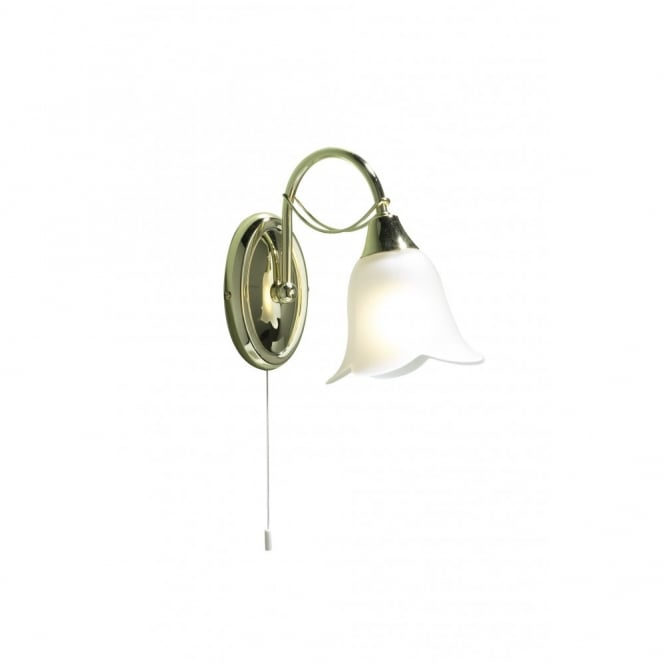 The Lighting Book DOUBLET brass wall light, switched