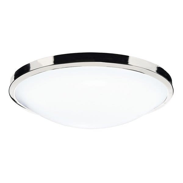 the lighting book dover flush ip44 ceiling light polished chrome