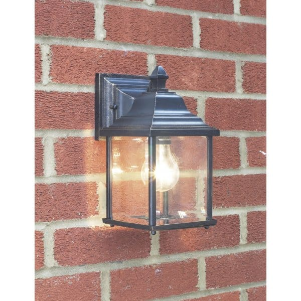 Doyle Double Insulated Black Garden Wall Lantern