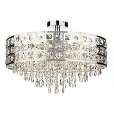 DUCHESS modern circular chandelier for low ceilings