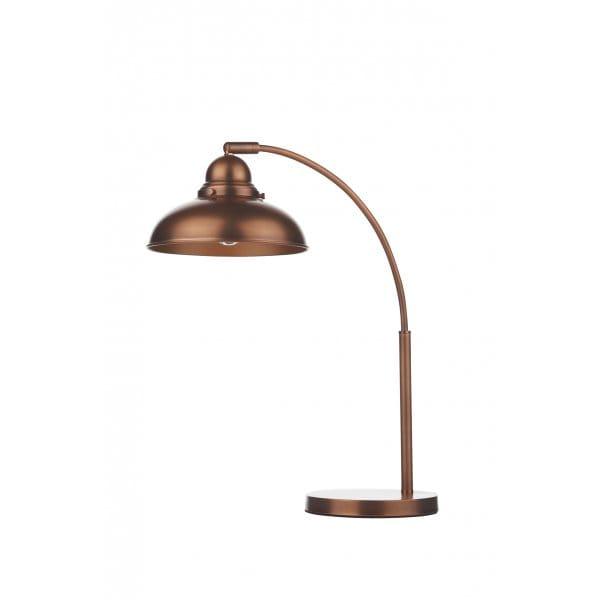 Retro Desk Lamp : Retro copper table lamp individually switched double