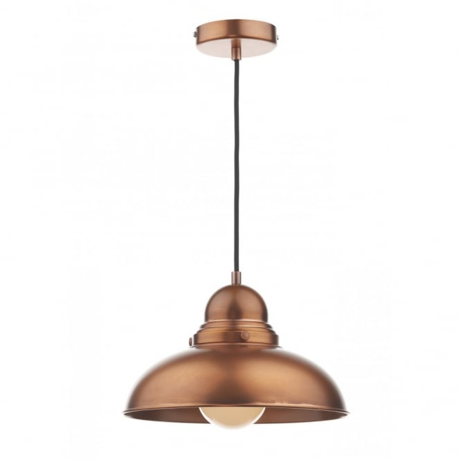 The Lighting Book DYNAMO antique copper single pendant light