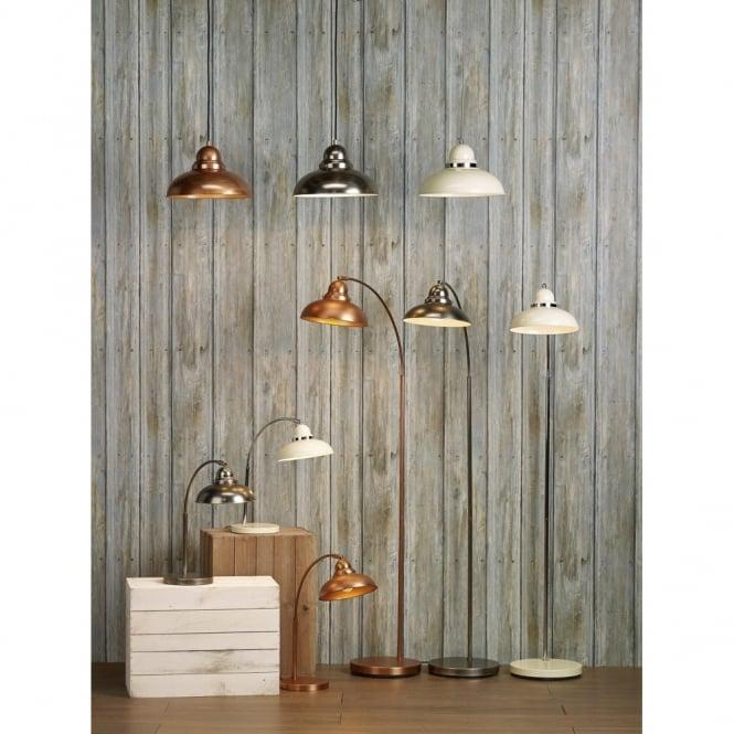 the lighting book dynamo cream u0026 chrome retro style floor lamp