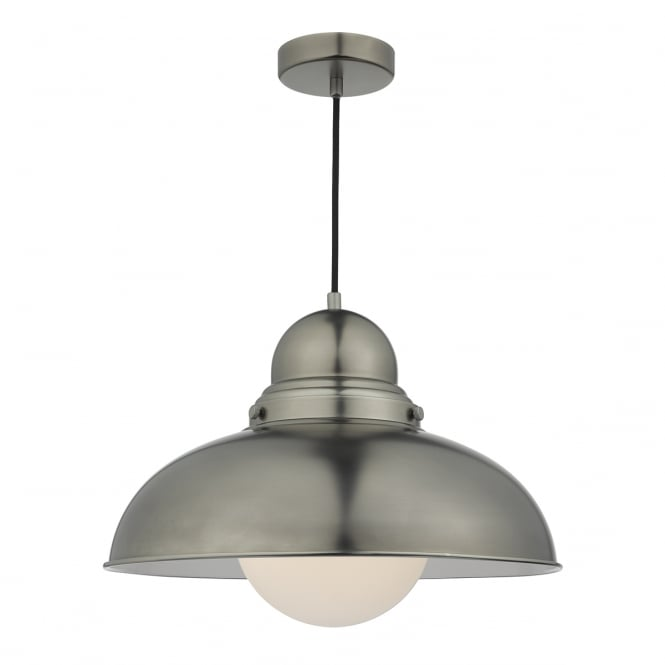 The Lighting Book DYNAMO large retro ceiling pendant in antique chrome