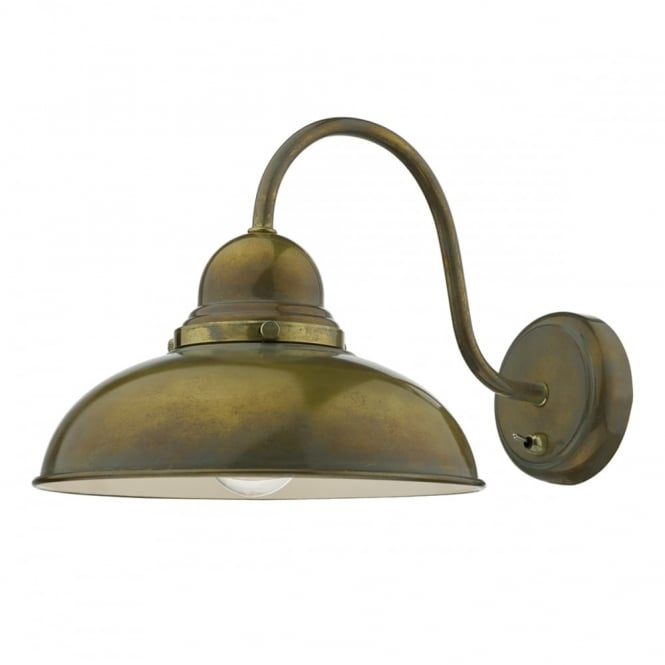The Lighting Book DYNAMO retro wall light in weathered brass finish