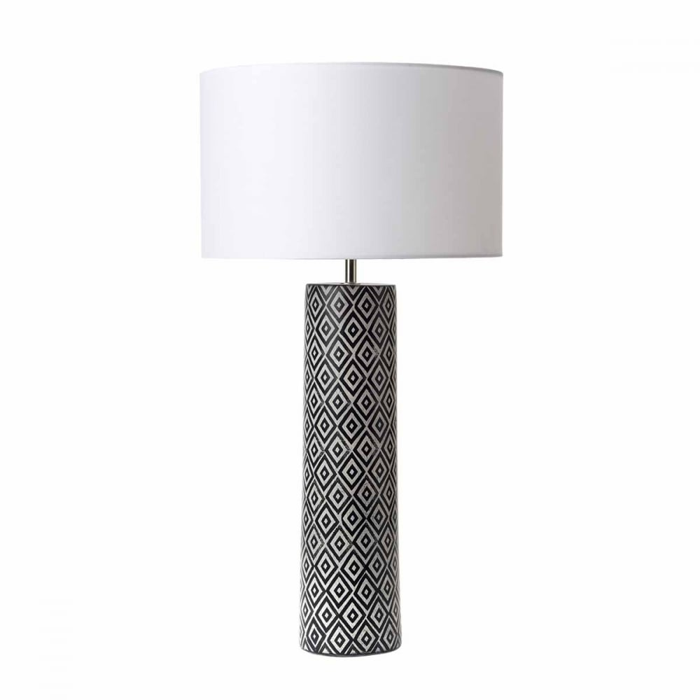 Ego contemporary black and white ceramic table lamp base contemporary black and white ceramic lamp base aloadofball Image collections