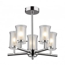 ELBA bathroom ceiling light, semi-flush 5 arm