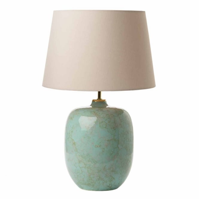 ELGAR pale green ceramic table lamp base