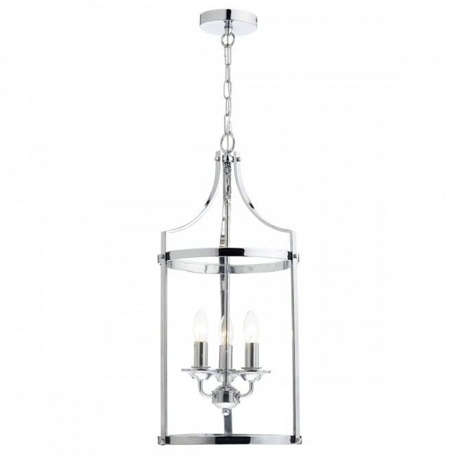 The Lighting Book ELY contemporary 3 light polished chrome pendant lantern