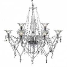 EMMA luxury crystal glass 9 light chandelier