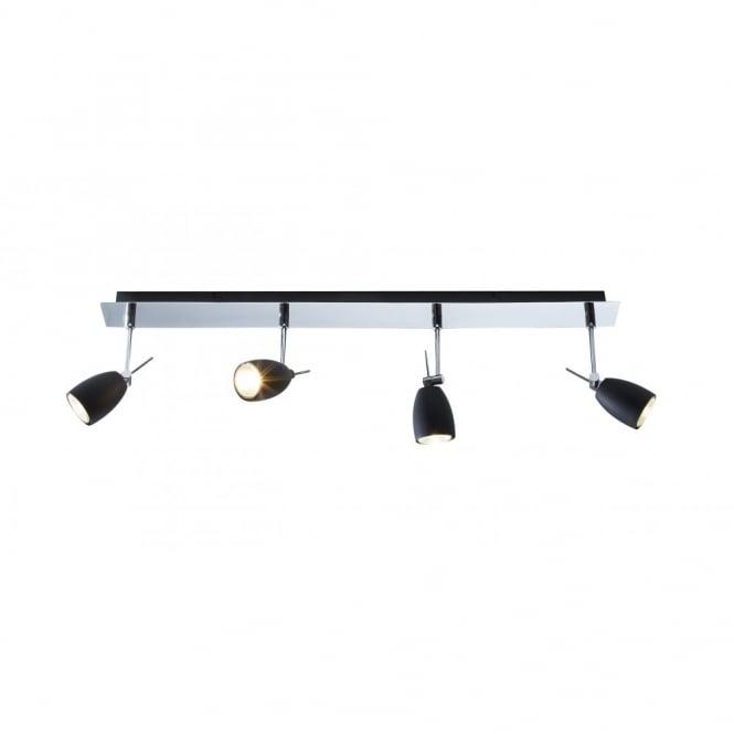 modern spot lighting. EMPIRE Modern Spotlight Bar With 4 Black Spots Spot Lighting E