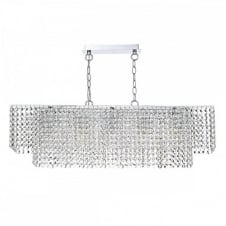ENNIS Linear Shaped Double Insulated Bar Pendant, Covered in a Double layer of Crystal Droplets.