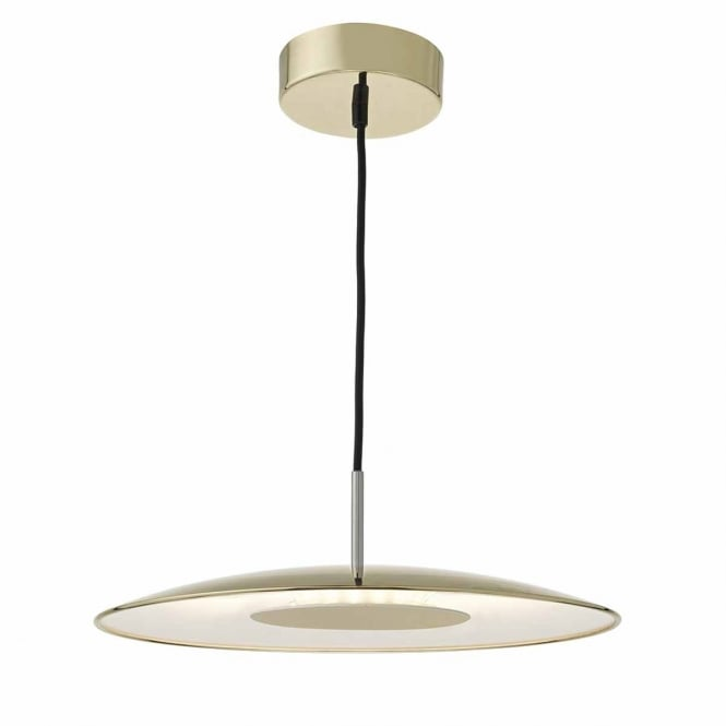 The Lighting Book ENOCH contemporary gold and satin chrome LED ceiling pendant