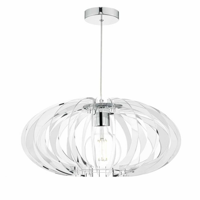 ENZO chrome and mirrored acrylic ceiling pendant