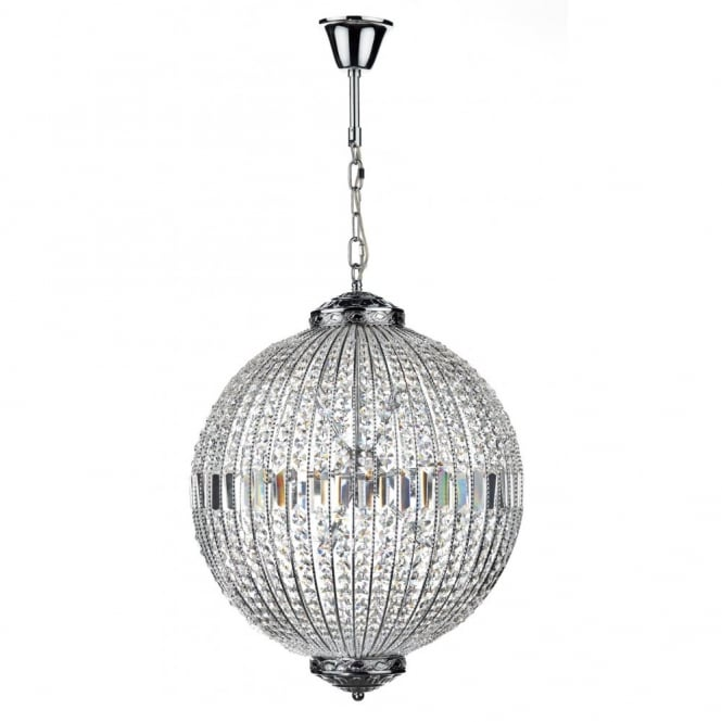 The Lighting Book EQUATOR crystal glass & chrome 12lt pendant