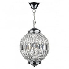 EQUATOR crystal glass & chrome 6lt pendant