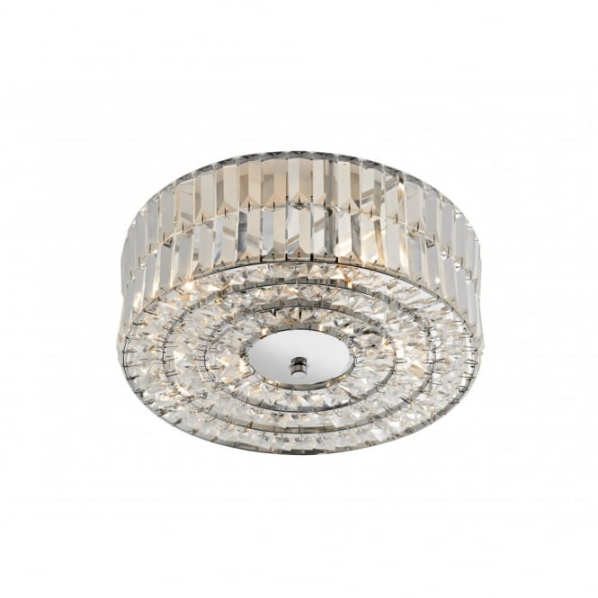 The Lighting Book ERROL circular crystal light for low ceilings
