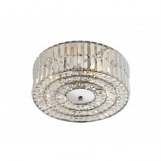 ERROL circular crystal light for low ceilings