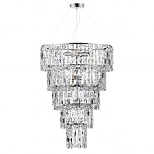 Crystal Long drop ceiling light fitment stairwell lights