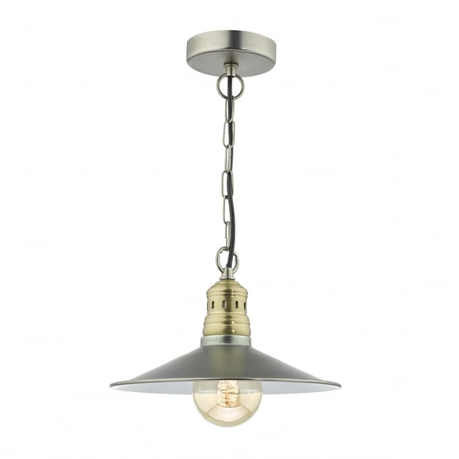 ESRA retro antique chrome and antique brass ceiling pendant