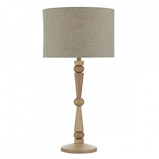 book essen wooden shape stacked table lamp with natural linen shade. Black Bedroom Furniture Sets. Home Design Ideas