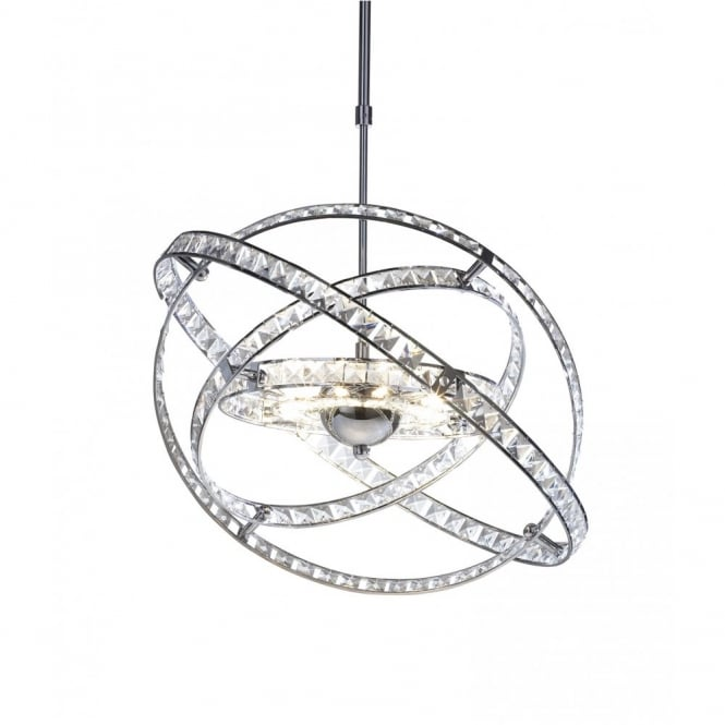 The Lighting Book ETERNITY chrome and crystal feature pendant light