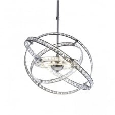 ETERNITY chrome and crystal feature pendant light