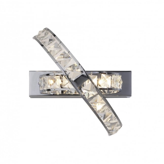 The Lighting Book ETERNITY modern chrome & crystal wall light