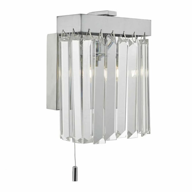 The Lighting Book EUGENE chrome and crystal wall light