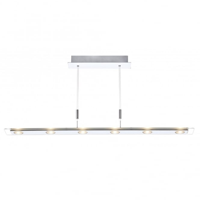 The Lighting Book EUROPA rise and fall LED 6 light ceiling bar pendant
