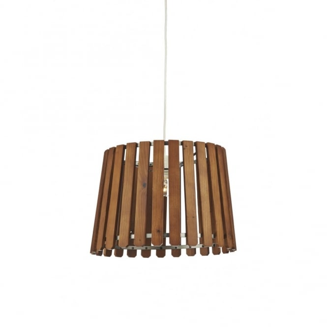Wooden Slat Non Electric Ceiling Pendant