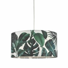 decorative green floral easy fit pendant shade