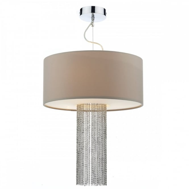 The Lighting Book FITZGERALD modern 3 light ceiling pendant with diffuser and chain insert (large)