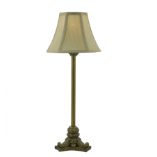 FOWEY traditional antique gold table lamp with shade