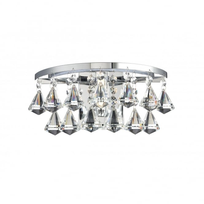 The Lighting Book FRINGE decorative polished chrome and crystal glass bathroom wall light