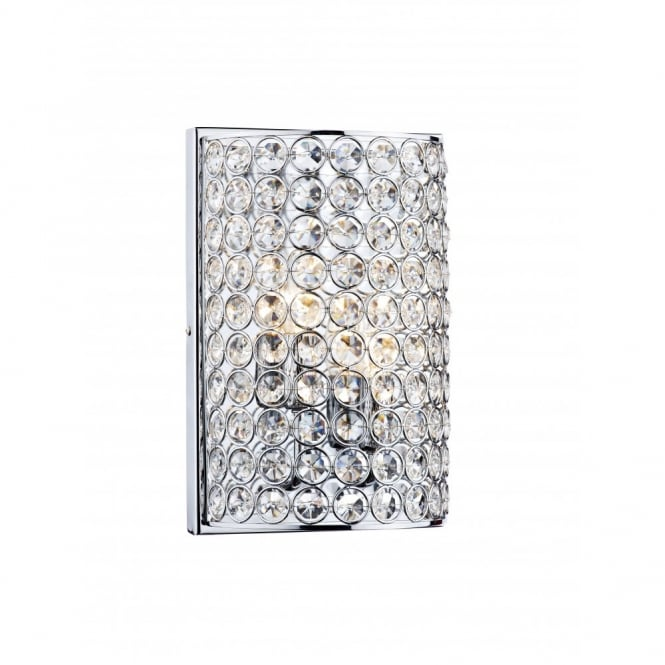The Lighting Book FROST chrome & crystal wall light