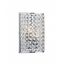 FROST chrome & crystal wall light