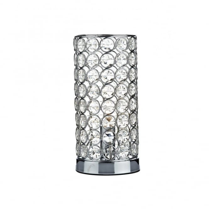 The Lighting Book FROST Cylindrical Chrome U0026 Crystal Touch Lamp Table Light