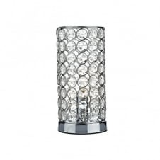 FROST cylindrical chrome & crystal touch lamp table light