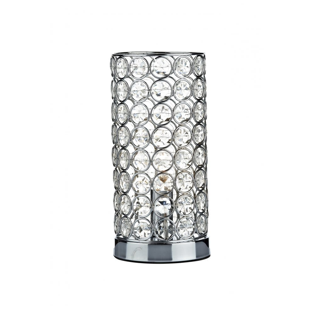 ... Book FROST cylindrical chrome & crystal touch lamp table light