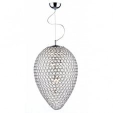FROST double insulated chrome & crystal pendant light