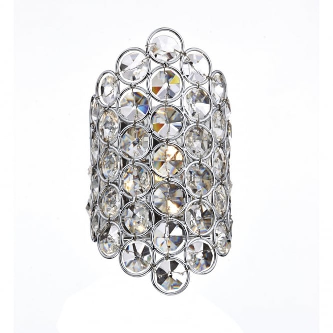 The Lighting Book FROST polished chrome & crystal glass decorative wall light