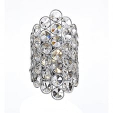 FROST polished chrome & crystal glass decorative wall light