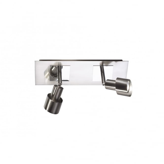 Symphony Twin Wall Lights : Twin Wall Spotlights Bar in Satin Chrome. Buy Modern Wall Spotlighting